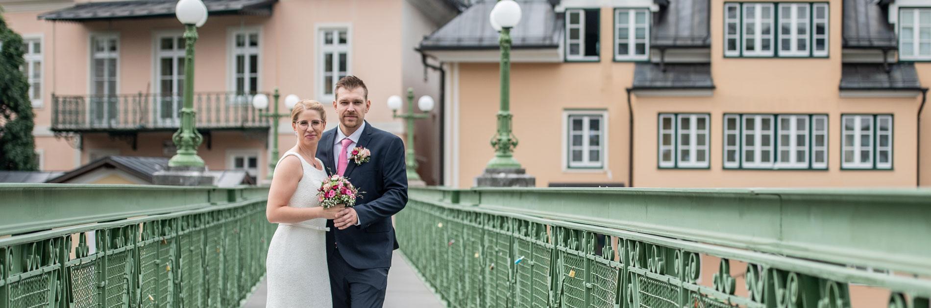 Brautpaar in Bad Ischl - Brautfrisur Salon Birgit Gmeiner