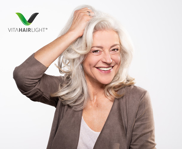Mit der Biophotonen-Energie wird eine heilende Wirkung auf Kopfhaut & Haar erzielt